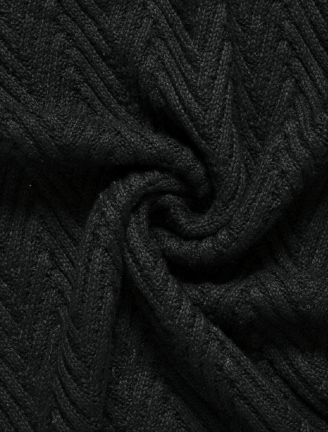 Agnes Orinda Women's Plus Size Turtleneck Side Slit Long Sleeve Mock Sweater Tunic Mothers Day