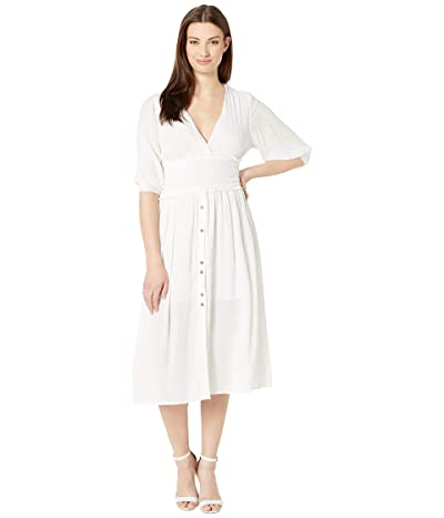 American Rose Savannah V-Neck Dress (Ivory) Women