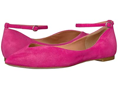 Sigerson Morrison Suzie Flat (Light Pink Suede) Women