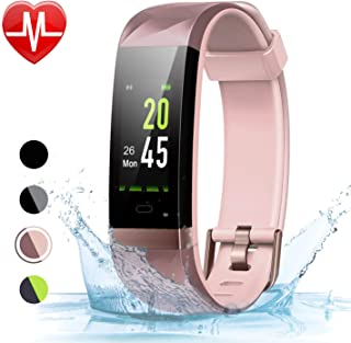 LETSCOM Fitness Tracker Color Screen HR, Activity Tracker...