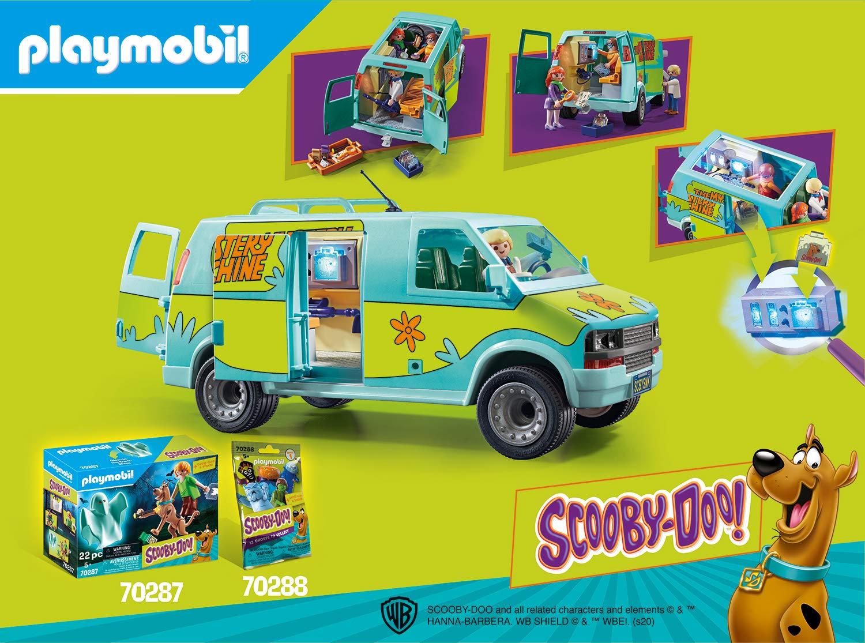 A Partir de 5 A/ños PLAYMOBIL Scooby-DOO La M/áquina del Misterio con Efectos de Luz 70286