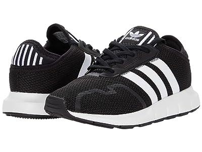 adidas Originals Kids Swift ESS C (Little Kid) (Core Black/Footwear White/Core Black) Boys Shoes