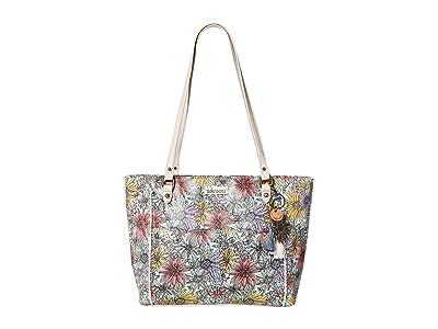 Sakroots Metro Satchel (Pastel Flower Garden) Satchel Handbags