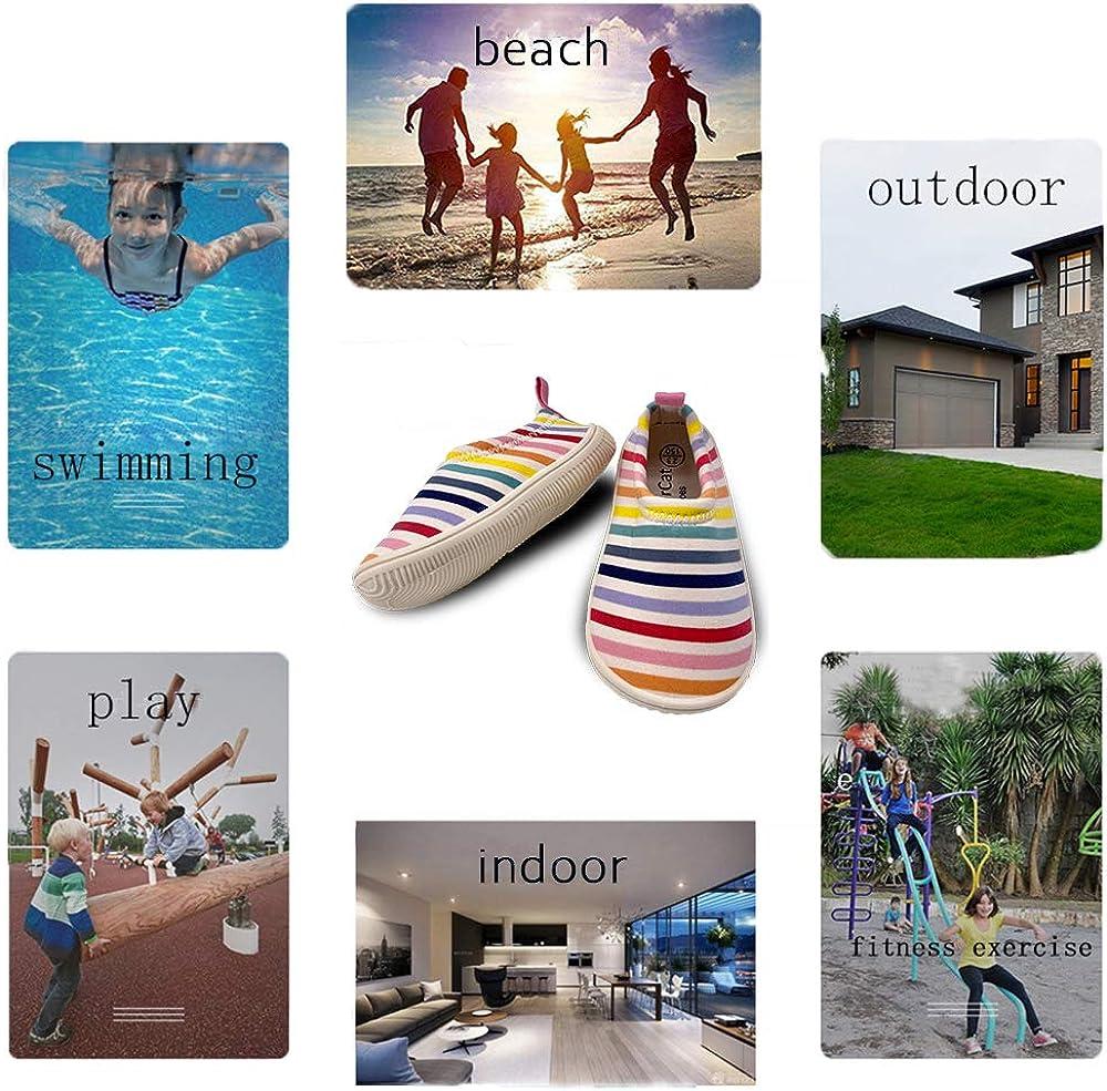 Dream Bridge Zapatos de Playa para ni/ños Zapatos de Agua Ni/ños Ni/ñas Zapatos de nataci/ón Antideslizantes Zapatos de Piel de Aqua Descalzo para ni/ños Piscina Deporte de Playa