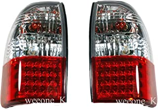 K1AutoParts LED L.E.D Rear Taillights Tail Light Lamps For Mitsubishi L200 Animal Warrior Strada 1995-2005