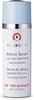 First Aid Beauty FAB Skin Lab Retinol Serum 0.25% Pure Concentrate, 1 Ounce