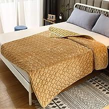 Anti-Slip Mattress Topper,Coral Fleece Mattress Pad with Elastic Straps,Premium Mattress Protector,Machine Washable Bed Pa...