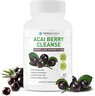 Natural Acai Berry Cleanse – Powerful Antioxidant Cleanse – Liver, Colon & Pancreas Detox Cleanse, Helps Support a Healthy...