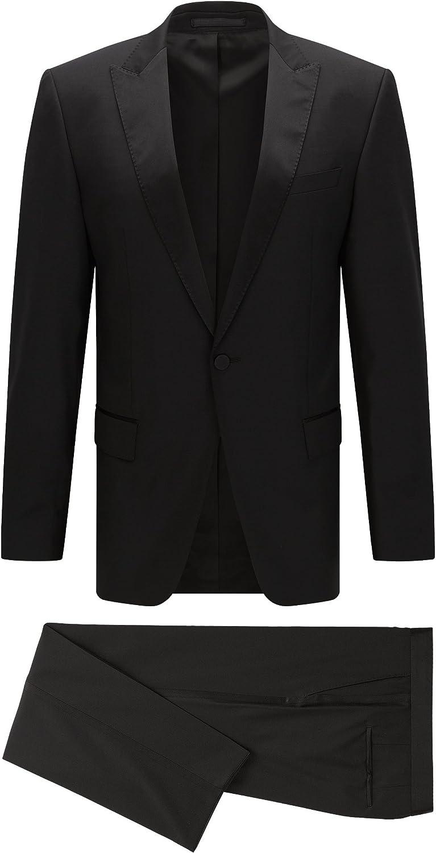 Hugo Boss Men's Housten/Glorious Slim Fit Peak Lapel Tuxedo