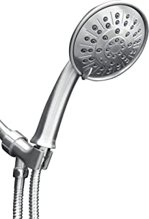 ShowerMaxx, Luxury Spa Series, 3 Spray Settings 5 inch Hand Held Shower Head with Extra Long Stainless Steel Hose, Easy-to-Remove Flow Restrictor to MAXX-imize Your Shower, Polished Chrome Finish