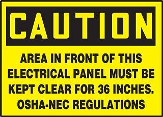 Accuform LELC601VSP Safety Label, Legend
