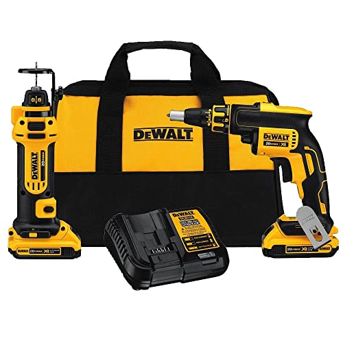 DEWALT DCK263D2 20V MAX XR Li-Ion Cordless Drywall Screwgun and Cut-out Tool