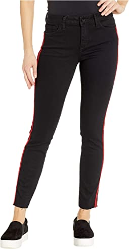 Kitten Mid-Rise Ankle Skinny in Ambrose w/ Racing Stripe