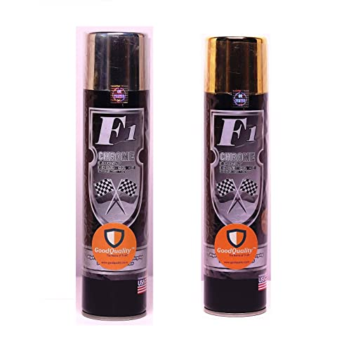 Generic Set of 2pc f1 Gold & Silver Chrome Paint aerosol Spray