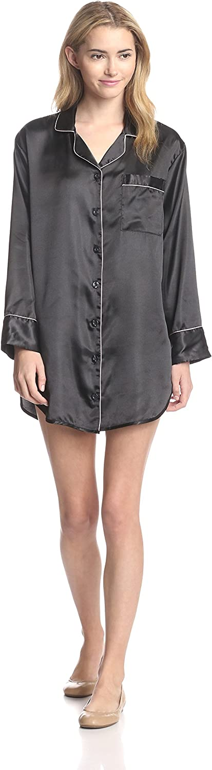 Genuine Free Shipping Bottoms Out Women's Satin Sleep Long Sleeve Shirt Challenge the lowest price of Japan