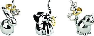 Umbra 1009157-158 Zoola Ring Holders, Set of 3 - Bunny, Cat, Elephant, Chrome