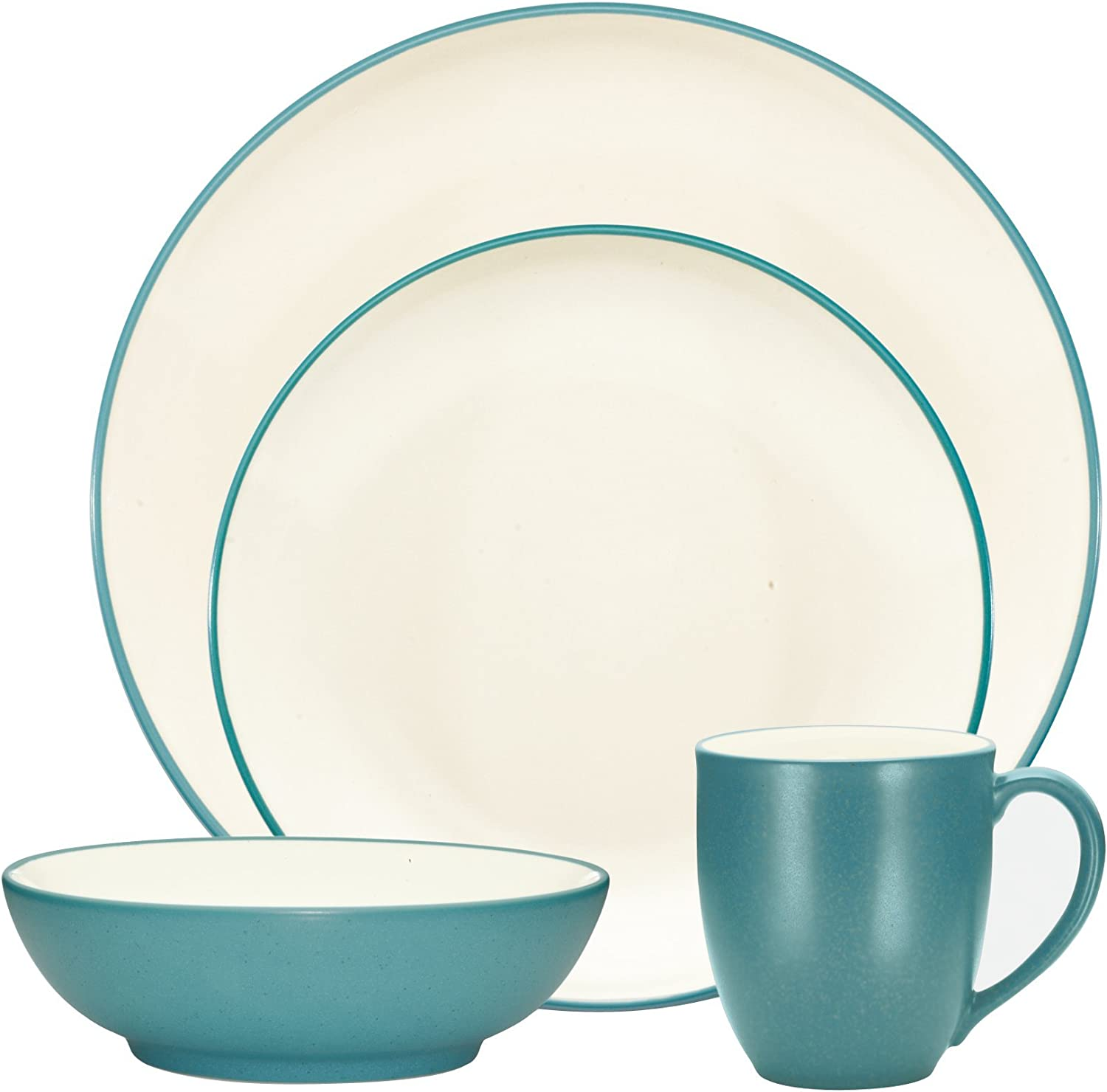 Noritake colorwave Turquoise 4-Piece Place Setting, Coupe Shape