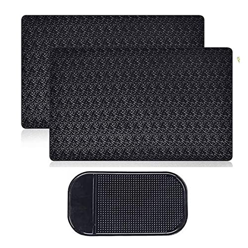 AFUNTA 4 PCS Anti-Slip Car Dash Sticky Pads Dashboard Cell Phone Mount Holder Mats 2 Size Heat Resistant Non-Slip Mats Reusable after Washing off Dust