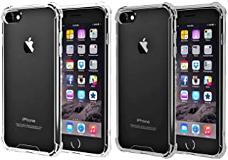 iBarbe [2pack] Clear Cover iPhone 6 6s Case, Protective Shell Shockproof Heavy Duty TPU Bumper Impact Resistant Case Anti-scratches EXTREME Protection Cover Heavy Duty Card Case for iPhone 6 6S 4.7