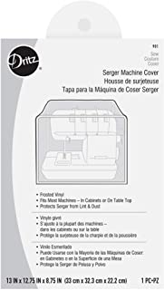 "Dritz 901 Machine Dust Cover for Serger, 13"" x 12-3/4"" x 8-3/4"", Clear Vinyl"