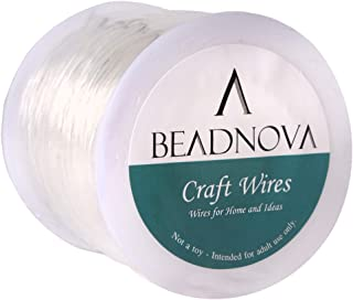 BEADNOVA 0.8mm Bracelet String Clear Craft Wire Stretch String Cord for Jewelry Making Beading Thread Elastic String Cord ...