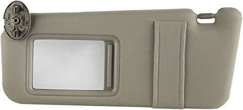 2021 OxGord Sun Visor Driver Side for 07-11 Toyota Camry - Full Assembly Kit with Mirror - Replacement Part Fits Left Drivers Side Without Sunroof and Light, outlet online sale wholesale Beige sale