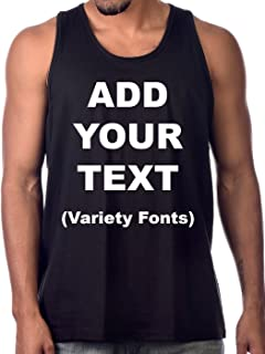 Custom Tank Tops for Men Ultra Soft t Shirts Add Your Own Text Message