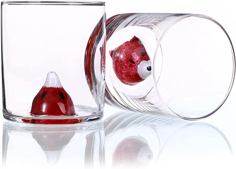 Whiskey Glasses Animal set of 14oz Clear 2 Japan Maker New Scotch Premiu Ranking TOP18
