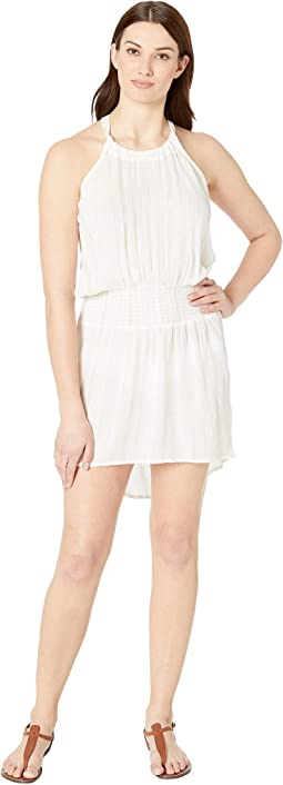 Glam Getaway Smocked Sleeveless Dress Cover-Up
