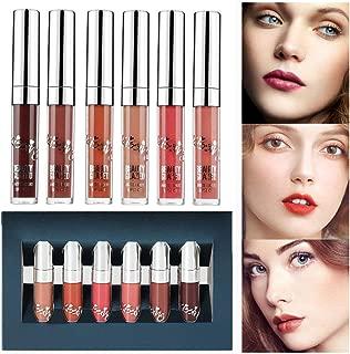 Beauty Glazed 6 PCS Matte Liquid Lipsticks Waterproof Long Lasting Holiday Edition Kit Liquid Lipgloss Beauty Cosmetics Set