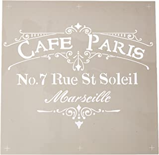 Deco Art DecoArt ADS-02 Americana Decor Stencil, Cafe Paris, Brown