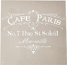 Deco Art ADS-02 Americana Decor Stencil, Cafe Paris