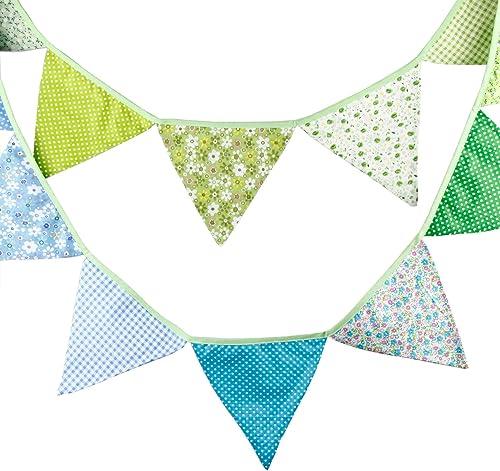 bienvenido a elegir Aqua Vintage Fabric Flag Buntings Garlands Wedding Birthday Birthday Birthday Party Decoration by SuperSockMonkeys  autorización