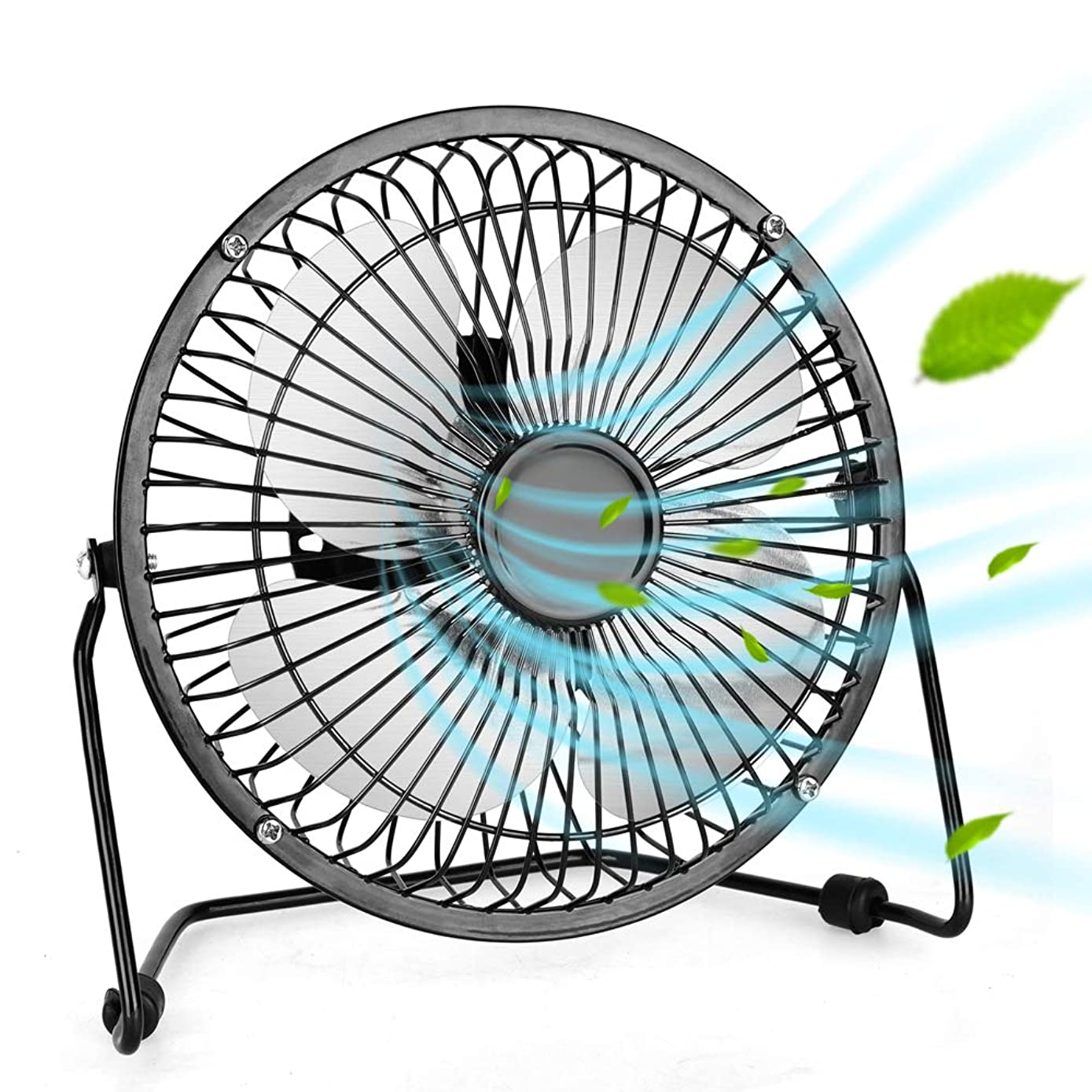 Air Choice Portable USB Fan - Mini Personal Fan With 1.4m USB Cable, 6 Inch Personal USB Fan, Quiet And Powerful, Perfect Desk Cooling Fan For Home & Office in Hot Summer Days