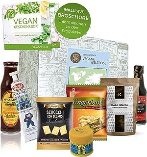 Außergewöhnliche Geschenk Box Vegane Weltreise   Vegane Lebensmittel aus aller Welt   Vegane Süßigkeiten Geschenke für Veg...