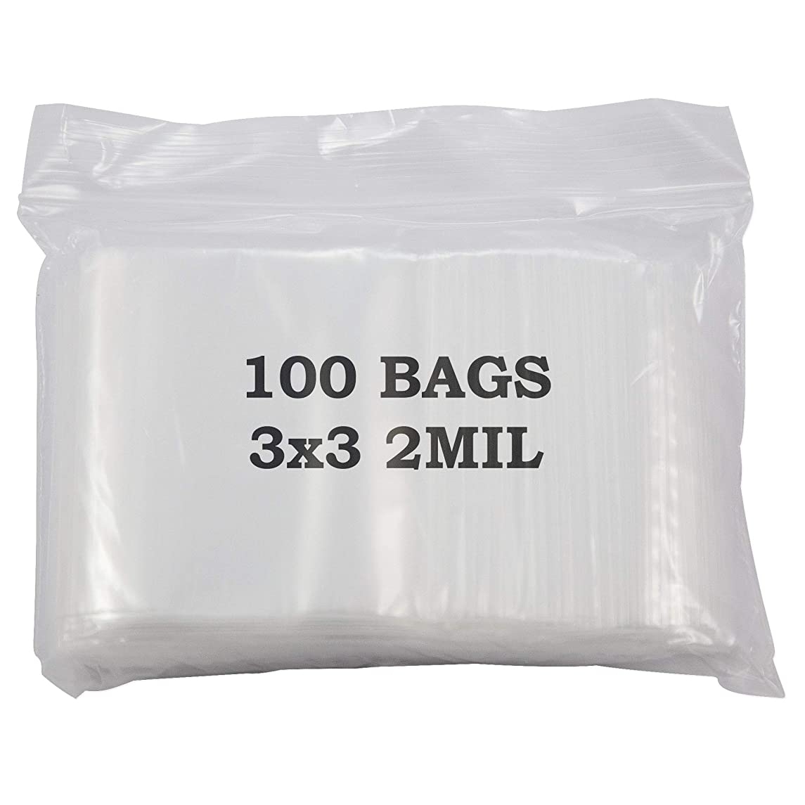 Plastic Zip Top Bag 3x3 (Package of 100)