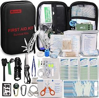 Monoki First Aid Kit Survival Kit, 241Pcs Upgraded...