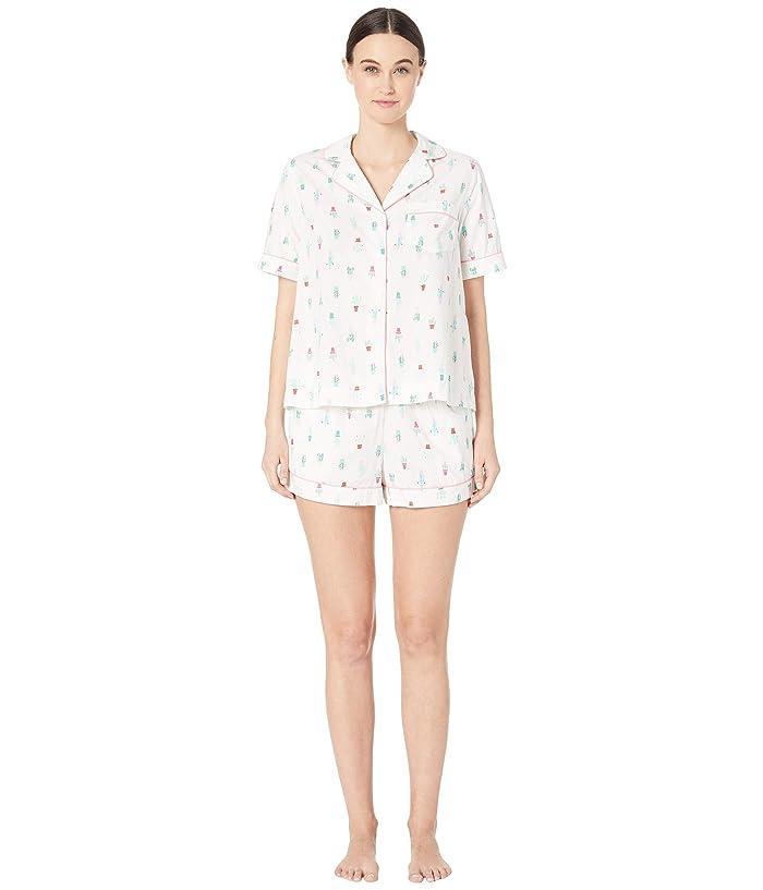Kate Spade New York Cotton Lawn Short Pajama Set (Cactus Pots) Women