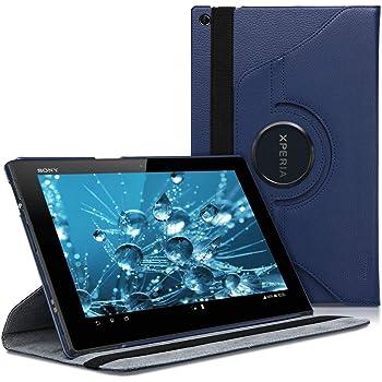 kwmobile Hülle kompatibel mit Sony Xperia Tablet Z - 360° Tablet Schutzhülle Cover Case Dunkelblau