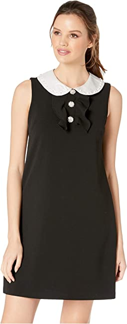 Scuba Crepe Dress w/ Peter Pan Collar