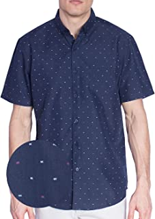 e0ad1cd7 Visive Original Printed Short Sleeve Button Down Shirt Size Small - 4XL Big  Mens