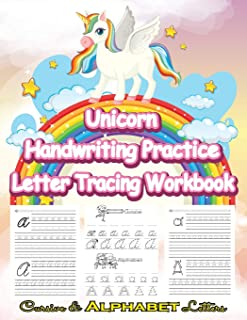 Unicorn Handwriting Practice Letter Tracing Workbook