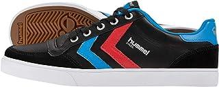 Hummel Stadil Low Sneakers, uniseks, voor volwassenen, vrijetijdsschoen, zwart en wit, halfhoge schoenen, leer/velours, kl...