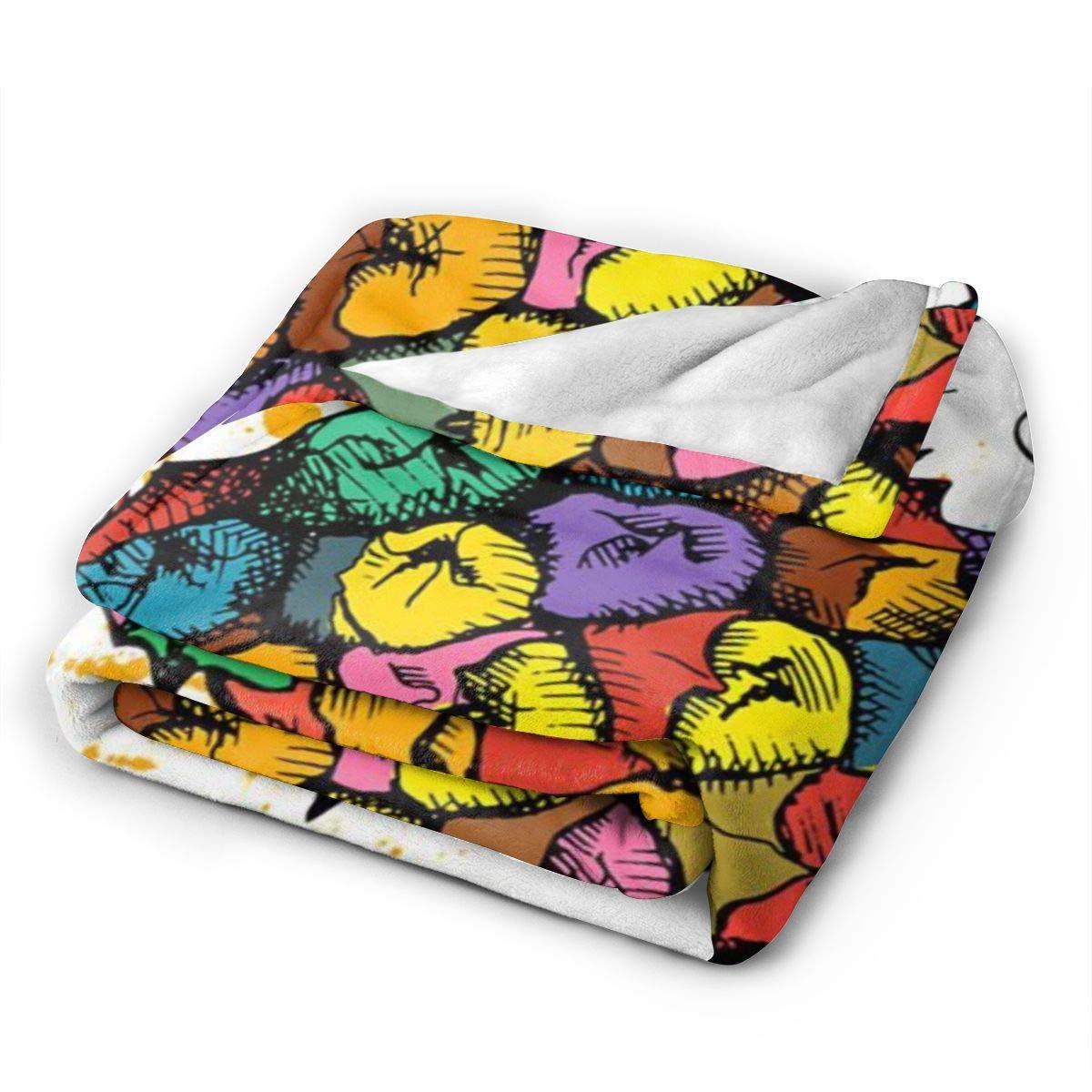 Colorful Pineapple Paint パイナップル 毛布 シングル フランネル ブランケット ふわふわマイクロファイバー 保温 毛抜けない 発熱効果 静電気軽減 洗濯機 洗える お昼寝ケット 春秋冬用 サイズ:127x102, 153x127, 204x153 Cm