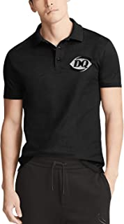 Mens Black Short Sleeve Collar Polo Shirt Dairy-Queen-DQ-ice-Cream-Pink-Breast-Cancer- Outdoor Buttons Tee Tops