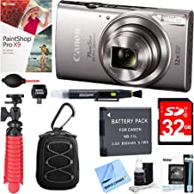 Canon PowerShot ELPH 360 HS Digital Camera (Silver) + 32GB Deluxe Accessory Bundle