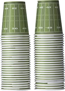 Hammont Football Themed Disposable Paper Cups – 9 oz Disposable Cups Ideal for Tailgate Parties, Family Dinner and Sports Event (50 Pack)