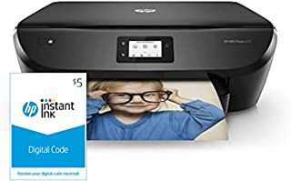 HP ENVY Photo 6255 All in One Photo Printer with Wireless Printing, Instant Ink ready (K7G18A) and Instant Ink $5 Prepaid ...
