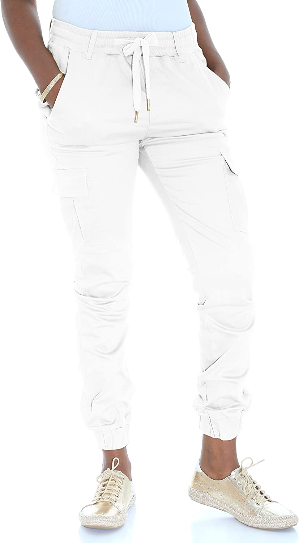 Riflessi Women's Skinny Stretch Twill Cargo Jogger Pants