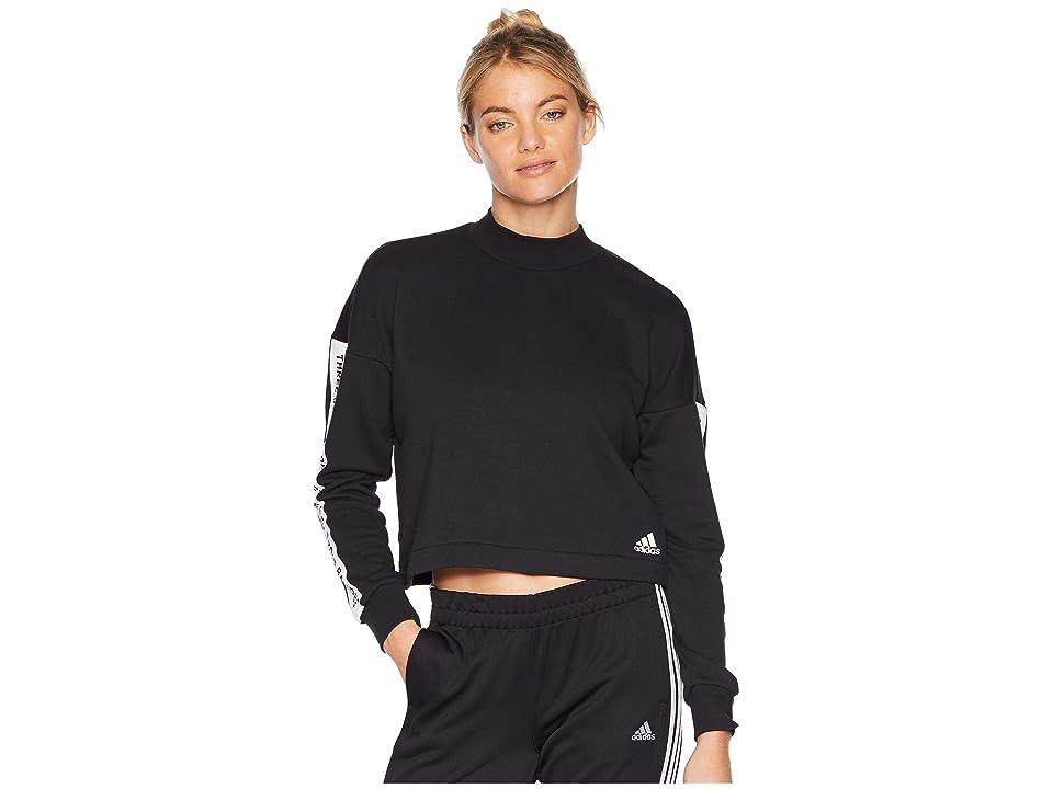 adidas Sport ID Sweatshirt (Black/White) Women
